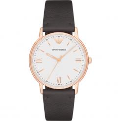 Zegarek EMPORIO ARMANI - Kappa 1 AR11011 Brown/Rose Gold. Szare zegarki męskie marki Emporio Armani, l, z nadrukiem, z bawełny, z okrągłym kołnierzem. Za 809,00 zł.