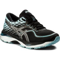 Buty ASICS - Gel-Cumulus 19 T7B8N Black/Porcelain Blue/White 9014. Czarne buty do biegania damskie Asics, z materiału. W wyprzedaży za 389,00 zł.