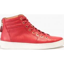 Buty sportowe damskie: Czerwone buty sportowe za kostkę