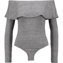 Bluzki asymetryczne: Bardot RUFFLE Bluzka z długim rękawem grey
