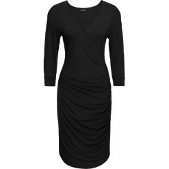Sukienka z dżerseju z wycięciami bonprix czarny. Czarne sukienki na komunię marki bonprix, na imprezę, z dżerseju. Za 89,99 zł.