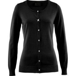 Sweter rozpinany bonprix czarny. Czarne swetry rozpinane damskie marki bonprix. Za 69,99 zł.