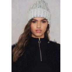 Rut&Circle Zawijana czapka Tilda - Grey. Szare czapki zimowe damskie Rut&Circle, z dzianiny. W wyprzedaży za 15,89 zł.