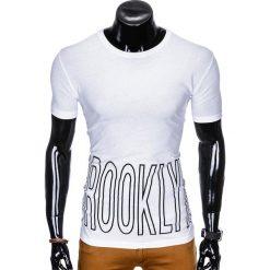T-shirty męskie: T-SHIRT MĘSKI Z NADRUKIEM S978 - BIAŁY