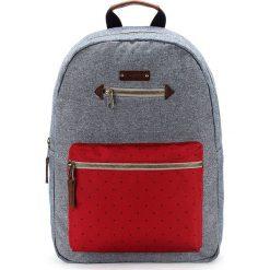 Plecaki męskie: Plecak w kolorze szaro-czerwonym – 30 x 41 x 13 cm
