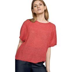 Swetry oversize damskie: Sweter w kolorze czerwonym