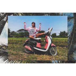 Bluza Wake Sista Hoodie Pink. Czerwone bluzy dziewczęce rozpinane marki Pakamera, z dzianiny. Za 269,00 zł.