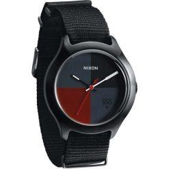 Zegarki męskie: Zegarek męski All Black Dark Red Nylon Nixon Quad A3442167
