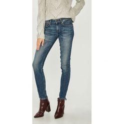 Liu Jo - Jeansy. Niebieskie jeansy damskie marki Liu Jo, z aplikacjami, z bawełny, z obniżonym stanem. Za 899,90 zł.