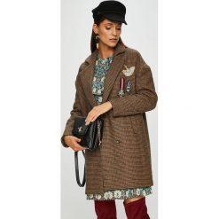 Silvian Heach - Płaszcz. Brązowe płaszcze damskie pastelowe Silvian Heach, l, z materiału, klasyczne. Za 1249,00 zł.