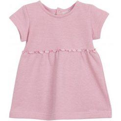 Sukienki niemowlęce: Sukienka z falbaną i srebrną nitką dla niemowlaka