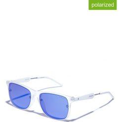 Okulary przeciwsłoneczne męskie lustrzane: Okulary męskie w kolorze biało-niebieskim
