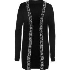 Sweter rozpinany bonprix czarny. Czerwone kardigany damskie marki bonprix. Za 179,99 zł.