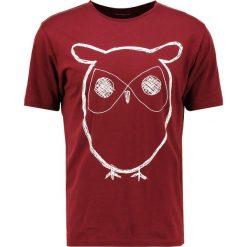 T-shirty męskie z nadrukiem: Knowledge Cotton Apparel OWL Tshirt z nadrukiem tawny red