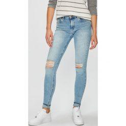 Only - Jeansy. Szare jeansy damskie rurki marki ONLY, s, z bawełny, casualowe, z okrągłym kołnierzem. W wyprzedaży za 149,90 zł.