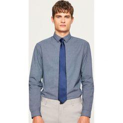 Koszula regular fit - Granatowy. Niebieskie koszule męskie na spinki Reserved, m. Za 89,99 zł.