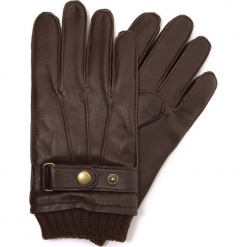 Rękawiczki męskie 39-6-636-K. Brązowe rękawiczki męskie Wittchen, w paski. Za 185,00 zł.