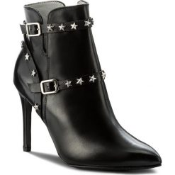 Botki EVA MINGE - Araceli 2F 17SF1372238EF 101. Czarne buty zimowe damskie Eva Minge, ze skóry, na obcasie. W wyprzedaży za 299,00 zł.