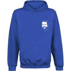 Bud Spencer Bulldozer Bluza z kapturem niebieski. Niebieskie bluzy męskie rozpinane marki Bud Spencer, xl, z nadrukiem, z włoskim kołnierzykiem. Za 164,90 zł.