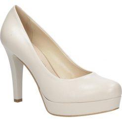 Beżowe czółenka skórzane ślubne na platformie Casu 1306/203. Czerwone buty ślubne damskie marki Melissa, z kauczuku. Za 238,99 zł.