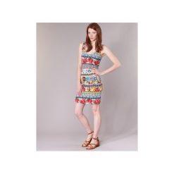 Sukienki krótkie Desigual  OCONDE. Szare sukienki mini marki Desigual, l, z krótkim rękawem. Za 216,30 zł.