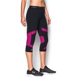 Spodnie sportowe damskie: Under Armour Spodnie damskie Capri Under Armour Black/Magenta Shock r. S (1271535007)
