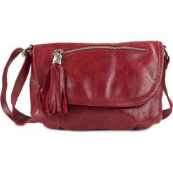 """Torebki klasyczne damskie: Skórzana torebka """"Maggie"""" w kolorze czerwonym – 27 x 19 x 4,5 cm"""