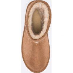 Emu Australia - Botki Stinger Metallic Mini. Brązowe buty zimowe damskie EMU Australia, z materiału, z okrągłym noskiem, na obcasie. W wyprzedaży za 379,90 zł.