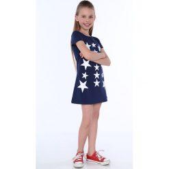 Sukienka dziewczęca w gwiazdki granatowa NDZ8244. Szare sukienki dziewczęce marki Fasardi. Za 49,00 zł.