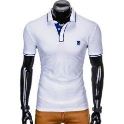 KOSZULKA MĘSKA POLO BEZ NADRUKU S920 - BIAŁA. Zielone koszulki polo marki Ombre Clothing, na zimę, m, z bawełny, z kapturem. Za 49,00 zł.