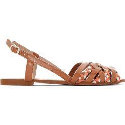 Sandały damskie: Sandały na płaskim obcasie z plecionymi paskami
