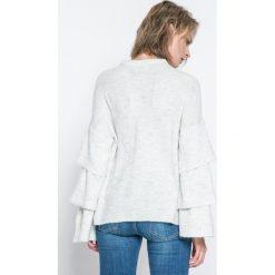 Only - Sweter Flower. Szare swetry klasyczne damskie marki ONLY, s, z bawełny, casualowe, z okrągłym kołnierzem. W wyprzedaży za 59,90 zł.