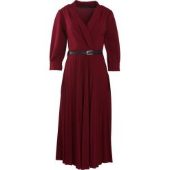 Bordowa Sukienka Conformation. Czerwone sukienki marki Mohito, l, z weluru. Za 109,99 zł.
