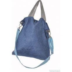 Torba hobo XXL - kobalt, szarość, błękit. Niebieskie torebki klasyczne damskie Pakamera, z syntetyku. Za 119,00 zł.