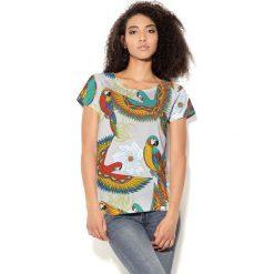 Colour Pleasure Koszulka damska CP-034 70 beżowo-czerwono-żółto-zielona r. XXXL-XXXXL. Fioletowe bluzki damskie marki Colour pleasure, uniwersalny. Za 70,35 zł.