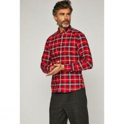 Tommy Hilfiger - Koszula. Szare koszule męskie na spinki TOMMY HILFIGER, l, w kratkę, z bawełny, button down, z długim rękawem. Za 399,90 zł.