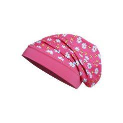 Playshoes  Czapka UV Beanie Kwiatki - Gr.Moda (2 - 6 lat). Brązowe czapeczki niemowlęce marki Playshoes, w kwiaty, z elastanu. Za 29,00 zł.