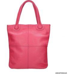 Torebka skórzana MAGNIFICA marki Bolsa. Różowe torebki klasyczne damskie Pakamera, ze skóry. Za 629,00 zł.