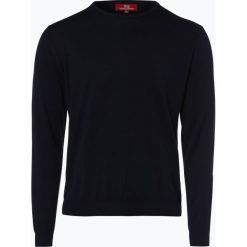 Swetry klasyczne męskie: Finshley & Harding London – Sweter męski, niebieski