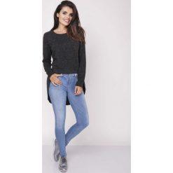 Bluzki, topy, tuniki: Czarna Codzienna Melanżowa Bluzka Asymetryczna
