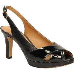 SANDAŁY CLARKS DELSIE KALA 26106077. Czarne sandały damskie marki Clarks, z materiału. Za 219,99 zł.