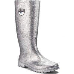 Kalosze CHIARA FERRAGNI - 18AI-CF2180 Silver. Szare buty zimowe damskie Chiara Ferragni, z materiału. W wyprzedaży za 569,00 zł.
