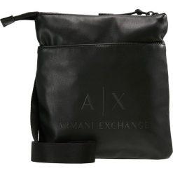 Armani Exchange Torba na ramię black/gun metal. Czarne torby na ramię męskie marki Armani Exchange, l, z materiału, z kapturem. Za 359,00 zł.