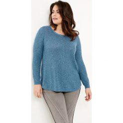Swetry klasyczne damskie: Sweter z listwą guzikową z tyłu
