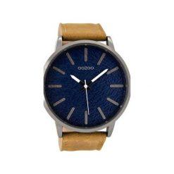 Zegarek OOZOO C9026 brown/blue. Brązowe, analogowe zegarki męskie Moderntime, metalowe. Za 279,00 zł.