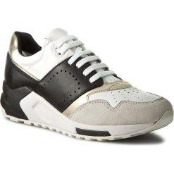 Sneakersy GEOX - D Phyteam A D724DA 00085 C0404 Biały/Czarny. Brązowe sneakersy damskie Geox, ze skóry ekologicznej. W wyprzedaży za 299,00 zł.
