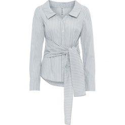 Bluzki damskie: Bluzka bonprix antracytowo-biały w paski