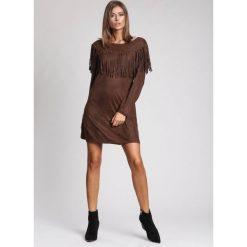 Odzież damska: Brązowa Sukienka West South Side