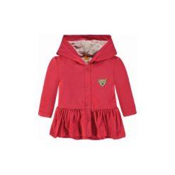 Steiff  Girls Bluza barely, paradise pink - Gr.Moda (6 - 24 miesięcy ). Różowe bluzy niemowlęce Steiff, z aplikacjami, z bawełny, z kapturem. Za 189,00 zł.