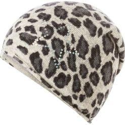 Czapka w kolorze beżowo-szarym. Brązowe czapki zimowe damskie Codello, z dzianiny. W wyprzedaży za 107,95 zł.